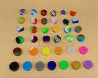 Wholesale Hot sale colours nonstick ml oil wax containers silicone jars for vaporizer vape