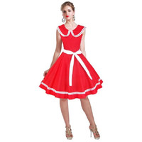 adult doll dresses - Women Girl Lady Dress Casual Dresses Ball Gown Doll Collar Lacing Bow lovely Summer New