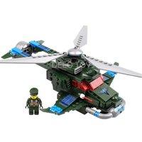 Delo juguetes de plástico de construcción de bloques de auto-ensamblaje de juguetes avión militar juego set regalo de cumpleaños niño sin caja de paquete JJ001950