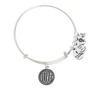 silver jewelry - 2016 Jewelry silver love alex and ani bracelets bangle slide charms christmas gift multi style