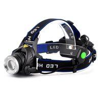 Wholesale 20PCS DHL Lumens LED Headlight Headlamp Flashlight Lantern Zoomable Head Torch Light For Camping Hunting Fishing