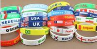 Wholesale Explosion models In Rio de Janeiro Olympic flag silicone wristband American flag bracelet British flag bracelet