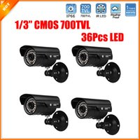 Wholesale 4pcs Led Security Camera High Quality Color TVL CCTV Camera All day Vision Weatherproof Camera CMOS Camera