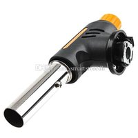 Wholesale Auto Ignition Camping Flamethrower Soldering Butane Gas Torch Burner F00270 FASH