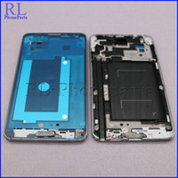 Wholesale 10pcs For Samsung Galaxy Note3 Note N900A N900T LCD Frame Front Housing Middle Frame Bezel Plate Home Button Silver