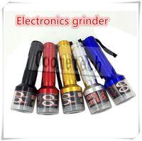 aluminum electronic - Electronic grinder Herb Metal Grinder Tobacco Grinders with Aluminum meterial colors for pen vaproizer wax vaporizer