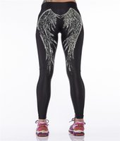 beauty and fitness - Beauty and the Beast wing D printing workout leggings fitness clothing sport leggings pants running training gym trousers