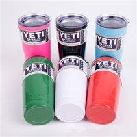 Wholesale YETI cups Rambler Tumbler oz YETI Cups Cars Beer Mug ML Large Capacity Mug Yeti Coolers Stainless Steel Cup In stock