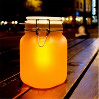 sun jar solar light - Romantic Led Night Lamp Colorful Sun Jar Moonlight Tank Collect Solar Led Lights Novelty Lighting Glow Tank Night Light