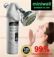 Wholesale Miniwell L720 shower filter with chrome shower head remove chlorine with carbon kdf media heavy metal spa bathroom