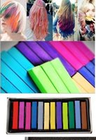 Wholesale New Easy Temporary Colors Non toxic Hair Chalk Dye Soft Hair Pastels Kit Chalk Pastel Stick Vermicelli Chalk DIY Your Hair Colors sets