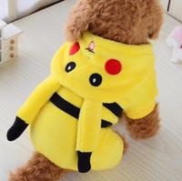 Wholesale Funny cartoon Halloween dog Pika costume cloth pet cat dog coat jacket hoodie jumpsuit small dog clothes