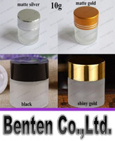 Wholesale High quality g frosted glass jar cosmetic cream jar with gold lid glass jar or cream container eye cream jar LLFA