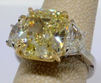 Wholesale 9 Fancy Yellow Diamond Ring Platinum k Gold GIA Certificate Size