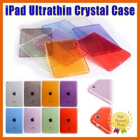 Wholesale Leather Kindle Keyboard Covers - ipad case Apple iPad 2 3 4 Mini 1 2 3 4 Air 2 Pro Crystal Clear Transparent Soft TPU Shockproof Back Case