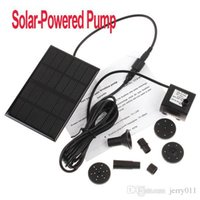 Wholesale Freeshipping Garden Brushless Solar Water Pump For Water Cycle Pond Fountain Rockery Fountain dropshipping