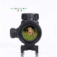 Wholesale Hot Hunting Scope X40 Holographic Optics Red Green Dot Tactical Riflescope Sight mm Rail MountScope For Hunting Airsoft