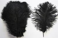 Wholesale 20 cm quot quot Natural Black Buck Ostrich Feathers Plume for Wedding Centerpiece Party Table Decoration