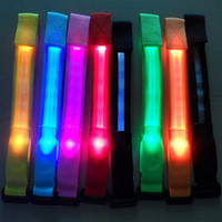 Wholesale LED arm band Color LED light wristband luminous bracelets nocturnal band running security arm band fluorescence Switch Control