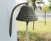 antique iron gate - Large Cast Iron Dinner Bell Welcome Hanging Bell Western Farm Ranch Patio Garden Gate Yard Door Bell Big Bell Outside Free Ship
