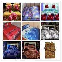 Cheap New 3D flower bedding set 4pcs, plant design quilt cover bed linen bedclothes bed set  bed sheet duvet cover pillowcases