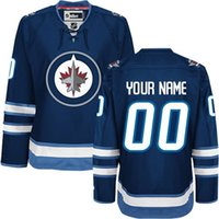 authentic jets jerseys - Customized Men s Winnipeg Jets Custom Any Name Any Number Ice Hockey Jersey Authentic Jersey Embroidery Logos Accept Mix Ord size S XL