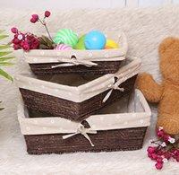 Wholesale Corn skin woven basket Rattan storage basket Storage Basket