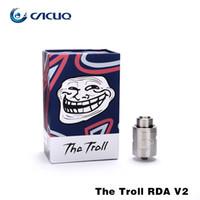 Cheap e cigs vaporizer Authentic Wotofo the troll rda v2 Electronic Cigarette atomizer suit Tesla Invader 3 vape mods eleaf istick