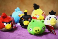 angry toys - 1PC garanteed orignal quality with orignal tag angry bird plush toys inch car hang decoration birthday gift grils gift toy