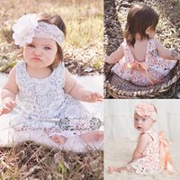 backless clothing brand - 2016 Baby Girls Clothes Summer Sunsuit Infant Outfit Lace Backless Dress C