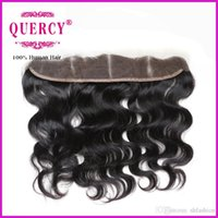 Wholesale 8A Indian Peruvian Malaysian Body Wave Lace Frontal Closure x2 Full Frontal Lace Closure Virgin Hair Body Wave Lace Frontal