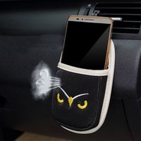 Wholesale Original Brand Car Air Vent Phone Holder Phone Bag OWL Embroidery Inch Phone Car Mount Holder Car Styling Phone Pocket