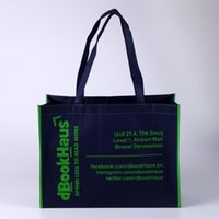 bags imprinted - Fashion high quality non woven shopping bag with different color binding silk imprint own logo printing