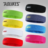 Wholesale AOLIKES High Quality Cotton Sweat Headband For Men Sweatband women Yoga Hair Bands Head Sweat Bands Sports Safety