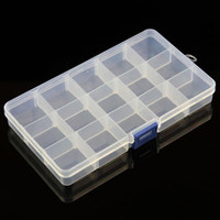 Wholesale Hot Worldwide Slots Plastic Storage Box Case Home Organizer Earring Jewelry Container