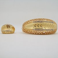 african american market - Fashion Gold Plated Bracelet Ring Two Piece Sets For Women Jewelry Factory Direct Marketing Lowest Price