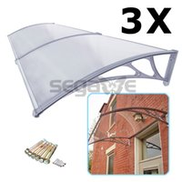 Wholesale 40 x Front Door Window Awning x Outdoor Polycarbonate Patio Canvas Cover Canopy