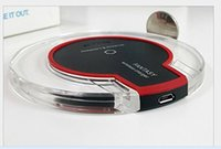Wholesale S7 FAST Wireless Charger Qi Transparent LED Flashing Light WIFI Charger Charging Pad DOCK STAND For Samsung Galaxy S6 Galaxy S7 Edge PLUS