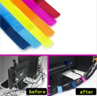 Wholesale 10pcs Cable Organizer Winder Wrapped Cord Line Plug Earphone Cable Bobbin Strappers Clip Holder Wrap Wire Organizer Wirding Thread Tool