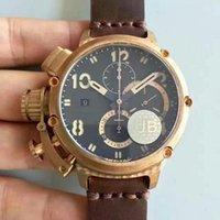 age mechanical - AUTOMATIC REAL BRONZE CASE U Chimera CHRONOGRAPH Naturally AGED BRONZE LIMITED EDITION mm men s watch B B BLACK wristwatch