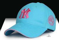 Cheap 10 Clors Baseball Cap NY Embroidery Letter Sun Hats Adjustable Snapback Hip Hop Dance Hat Summer Outdoor Men Women cap Free Shipping