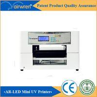 Wholesale super a3 size printing machine uv flatbed name card wedding invitation printing machine AR led mini4 uv printer