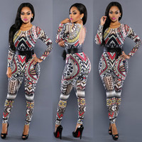 african leggings - 2016 Fashion Sexy Perspective Leggings Jumpsuits Traditional African Printed Dashiki Bodycon Dress Sexy long Sleeve Vestidos Club Dress