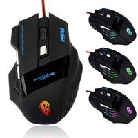 Wholesale 2016 Newest PC Mouse DPI D LED Ratones Optical USB Wired Gaming Mouse Mice For PC Laptop