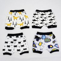 Wholesale INS Clothing Boys Girls Baby Kids Clothing Cotton Casual Harem Shorts Pants Cute Cartoon Leggings Cartoon Enfant clothes