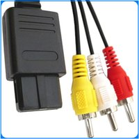 Wholesale FOR NINTENDO N64 AV AUDIO VIDEO A V CABLE CORD WIRE