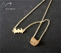animal theme jewellery - 2016 Stainless Steel Fine Jewelry Gold Plated Hero Theme Jewellery Punk Batman and Mask Chian Necklace For Women And Men
