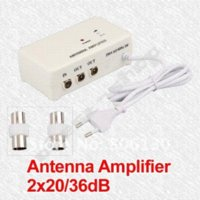 aerial amplifier splitter - FM TV Amplified Aerial Antenna DVB T Signal Amplifier Booster Splitter TV ANTENNA antenna booster tv
