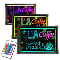 Wholesale Neon LED Message Writing Board Menu Sign x24 quot Flashing Illuminated Erasable