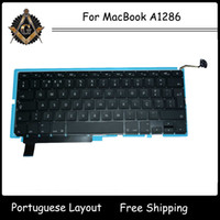 Wholesale Genuine Laptop PT Portugal Portuguese Keyboard with Backlight for MacBook Pro A1286 Keyboard Year